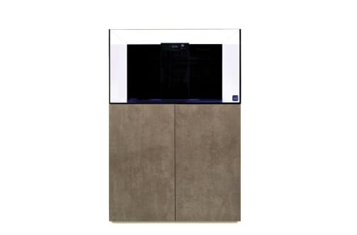 TMC Reef Habitat 90 Aquarium System with Brushed Limestone Panels & Door Set
