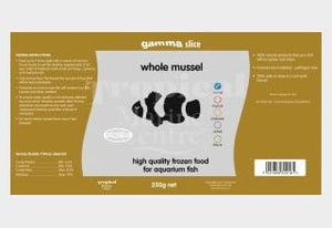 Gamma Whole Mussel 250g pack