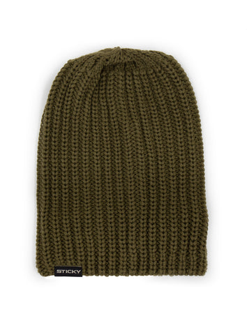 Sticky Baits Olive Knitted Beanie