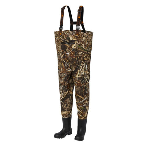 Prologic MAX5 TASLAN CHEST WADER BOOTFOOT CLEATED CAMO MAX8