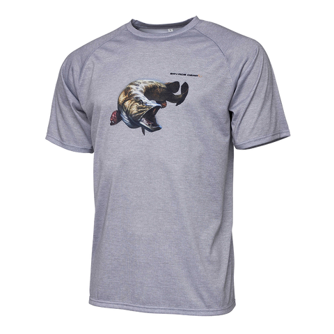 SAVAGE GEAR PIKE TEE FLINTH GREY MELANGE