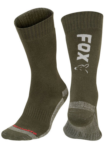 Fox Green / Silver Thermolite long sock