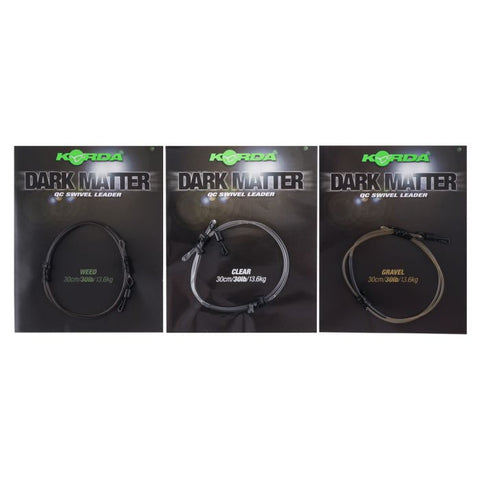 Korda Dark Matter QC Swivel Leader 30cm