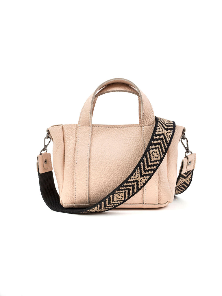 Athena nude medium leather tote