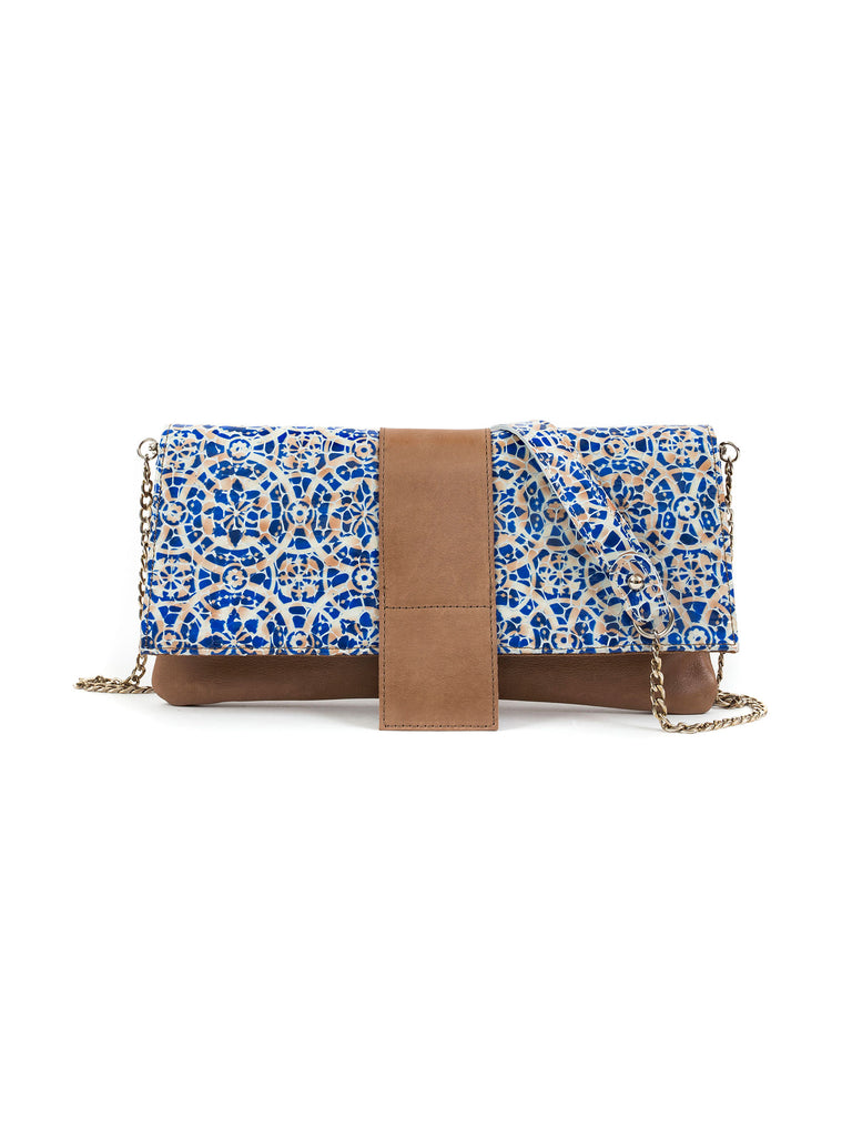 Giselle ceramic and cognac shoulder bag