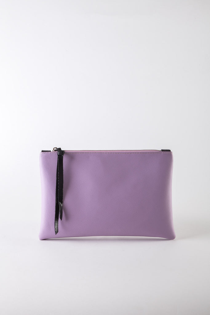 Eve eco-leather lila medium clutch