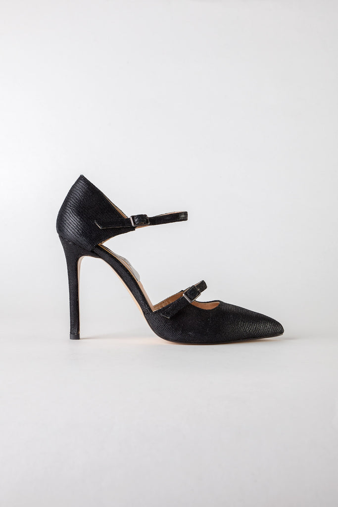 Stella black suede pumps
