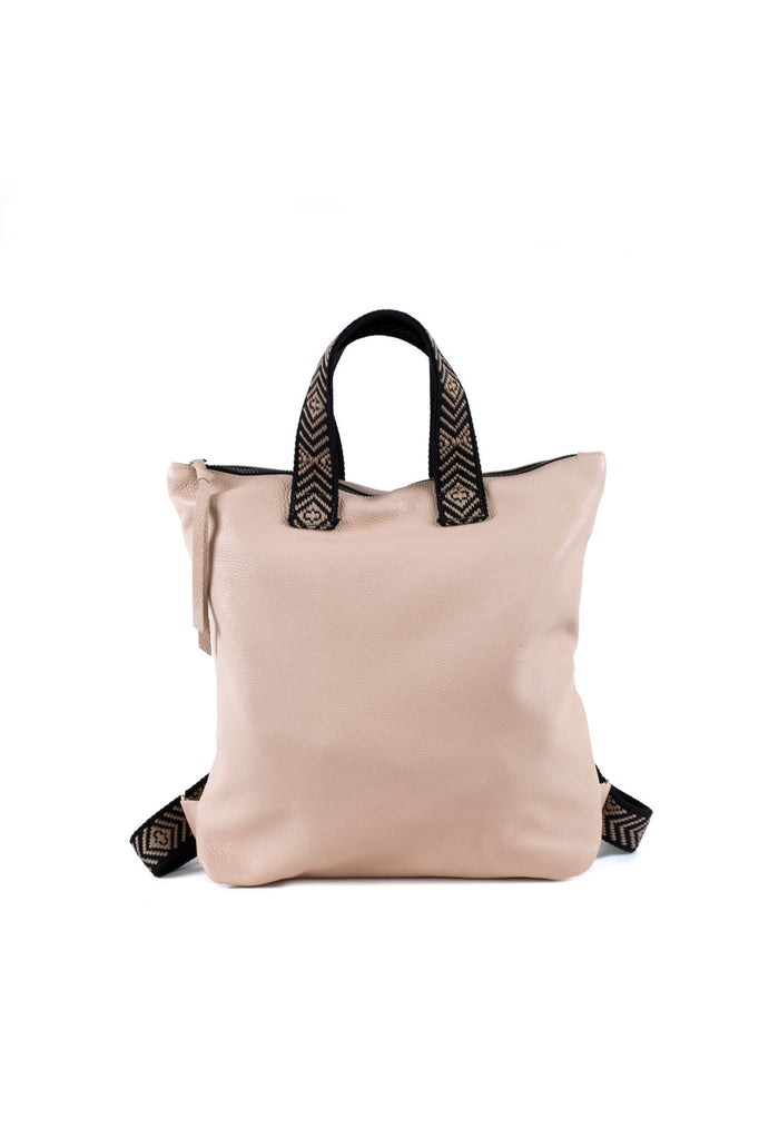 Leslie sport off pink leather backpack