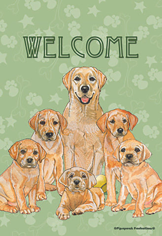 Golden Retrievers - Best of Breed Pipsqueak Productions Outdoor Flag
