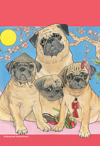 Pugs - Best of Breed Pipsqueak Productions Outdoor Flag