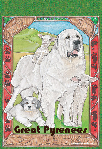 Great Pyreneess - Best of Breed Pipsqueak Productions Outdoor Flag