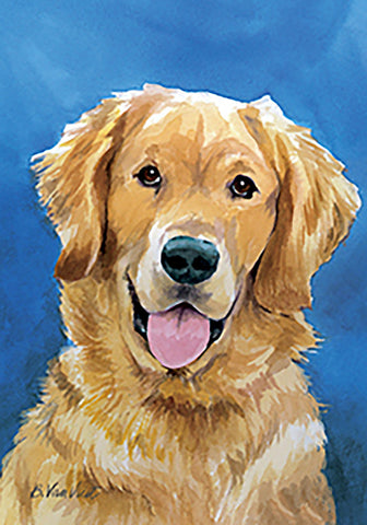 Golden Retriever - Best of Breed Outdoor Portrait Flag