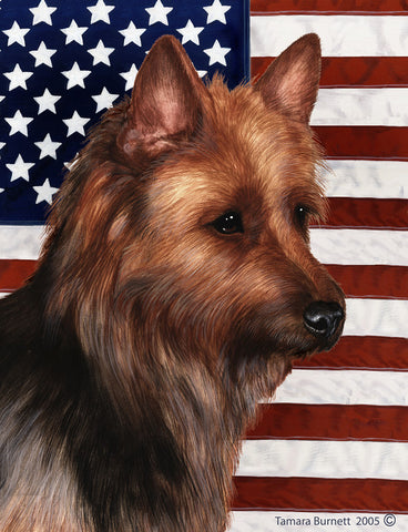 Australian Terrier - Best of Breed Patriotic II Outdoor Flag