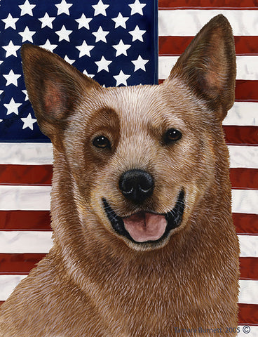 Australian Cattle Dog Red - Best of Breed Patriotic II Outdoor Flag