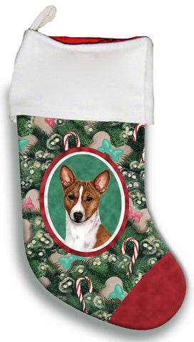 Basenji Red and White  - Best of Breed Christmas Stocking