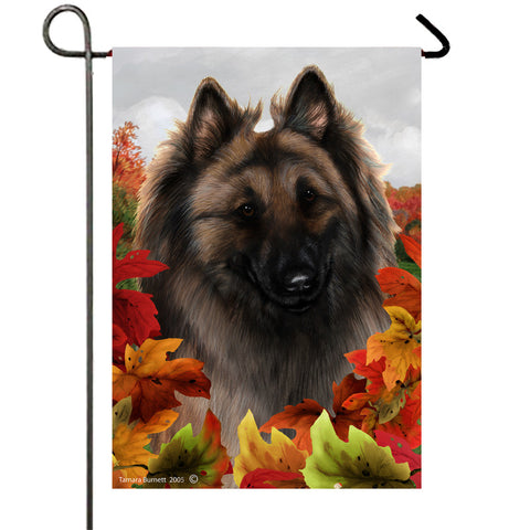 Belgian Tervuren - Best of Breed Fall Leaves Outdoor Flag