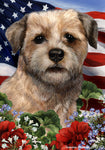 Border Terrier - Best of Breed Patriotic I Outdoor Flag