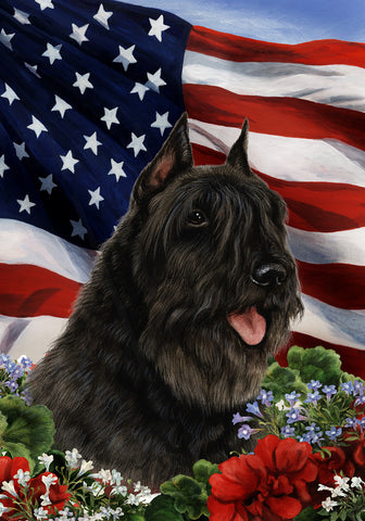 Bouvier Black - Best of Breed Patriotic I Outdoor Flag