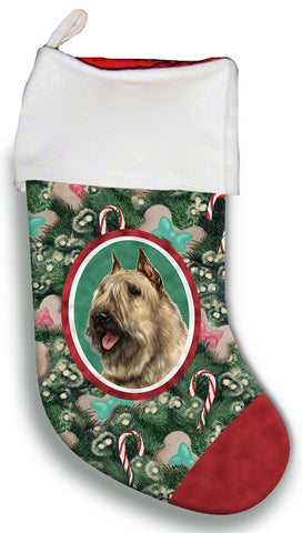 Bouvier Fawn - Best of Breed Christmas Stocking