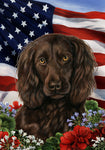 Boykin Spaniel - Best of Breed Patriotic I Outdoor Flag