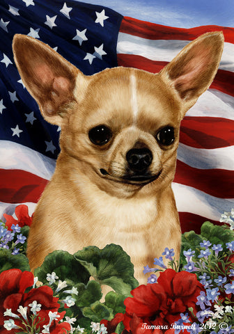 "Chihuahua Tan - Best of Breed Patriotic I Garden Flag 12"" x 17"""