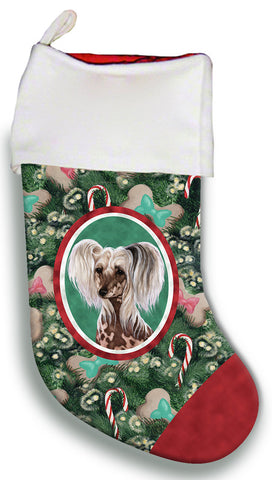 Chinese Crested - Best of Breed Christmas Stocking