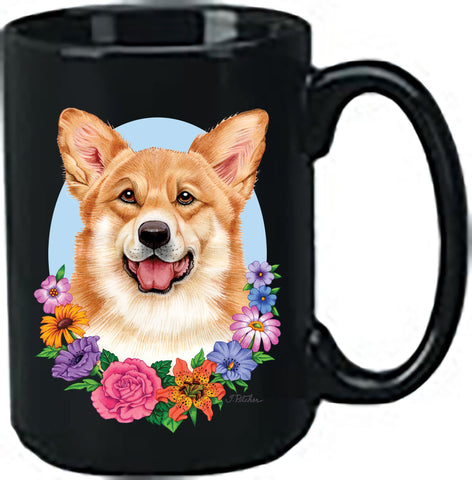 Corgi Pembroke Welsh T/W - Best of Breed Ceramic 15oz Coffee Black Mug