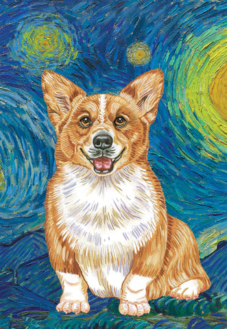 "Corgi Pembroke Welsh  - Best of Breed Home Garden Flag 12"" x 17"""
