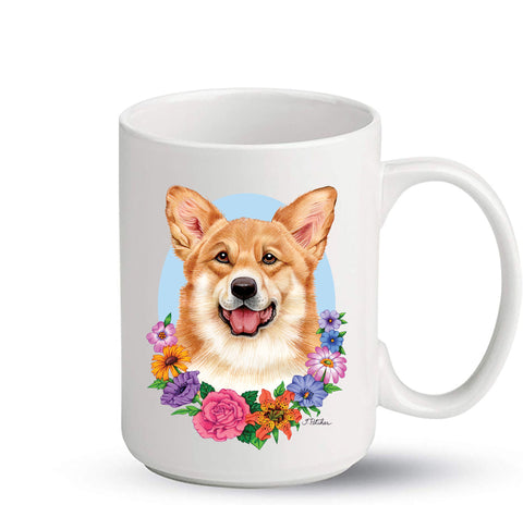 Corgi Pembroke Welsh T/W - Best of Breed Ceramic 15oz Coffee Mug