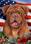 "Dogue De Bordeaux  - Best of Breed Patriotic I Garden Flag 12"" x 17"""