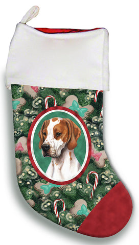 English Pointer Red and White  - Best of Breed Christmas Stocking