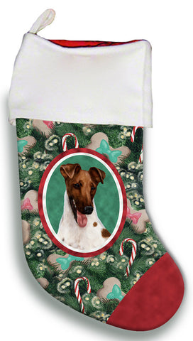 Fox Terrier Brown/BlackWhite - Best of Breed Christmas Stocking