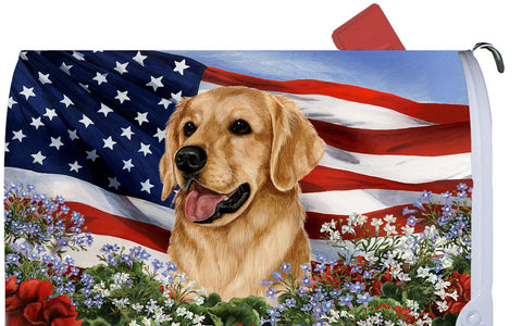 Golden Retriever - Best of Breed Patriotic I Dog Breed Mail Box Cover