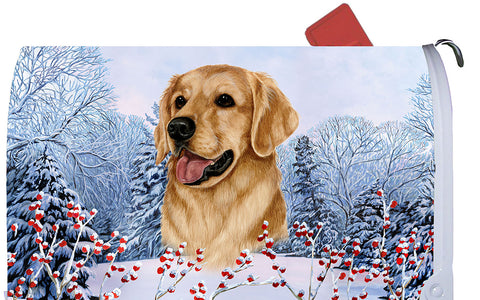 Golden Retriever - Best of Breed Winter Berries Dog Breed Mail Box Cover