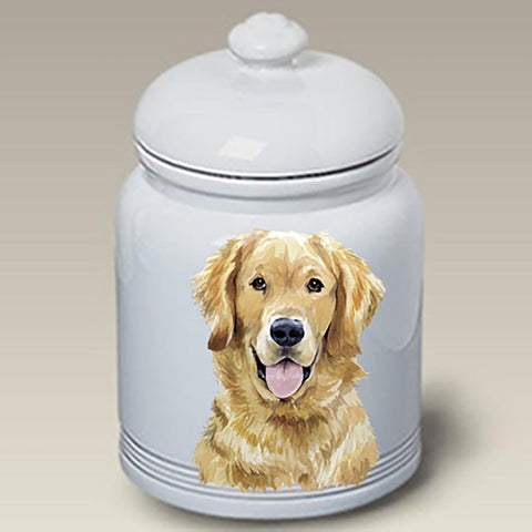 Golden Retriever - Best of Breed Stoneware Ceramic Treat Jars
