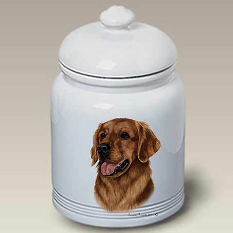 Golden Retriever Red - Best of Breed Stoneware Ceramic  Doggie Treat Jar