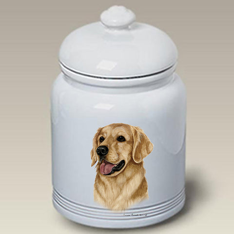 Golden Retriever - Best of Breed Stoneware Ceramic  Doggie Treat Jar