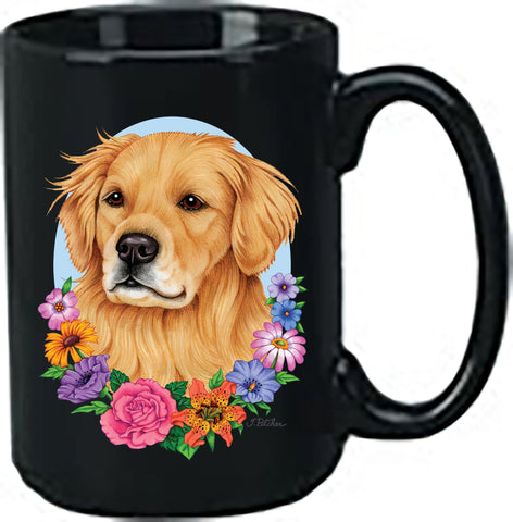 Golden Retriever - Best of Breed Ceramic 15oz Coffee Black Mug