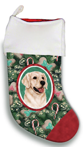 Golden Retriever White - Best of Breed Christmas Stocking