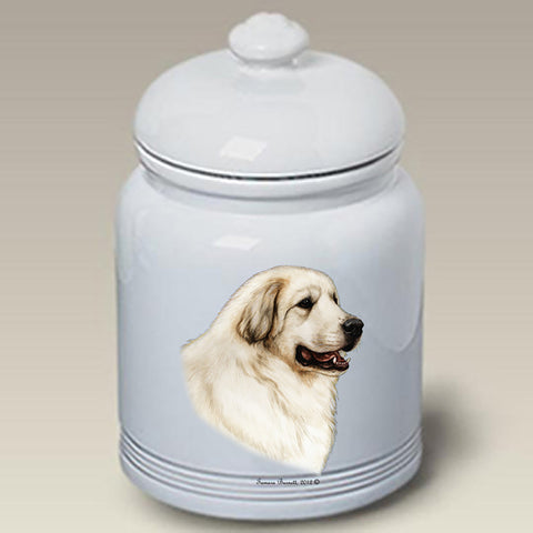 Great Pyrenees - Best of Breed Stoneware Ceramic  Doggie Treat Jar