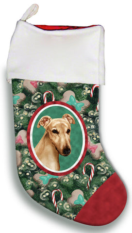 Greyhound Fawn - Best of Breed Christmas Stocking