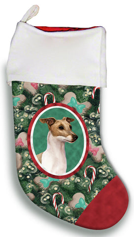 Italian Greyhound Fawn/White - Best of Breed Christmas Stocking