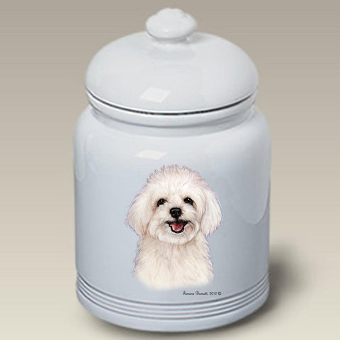 Maltipoo- Best of Breed Stoneware Ceramic  Doggie Treat Jar