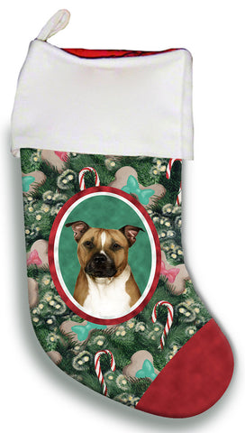 Pit Bull Terrier- Best of Breed Christmas Stocking
