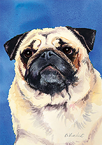 Pug Fawn - Best of Breed Outdoor Portrait Flag