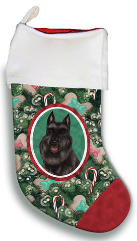Schnauzer Black Cropped- Best of Breed Christmas Stocking