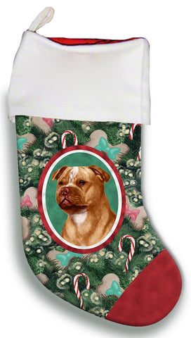 Staffordshire Bull Terrier Orange- Best of Breed Christmas Stocking