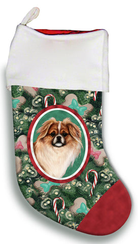 Tibetan Spaniel Red- Best of Breed Christmas Stocking