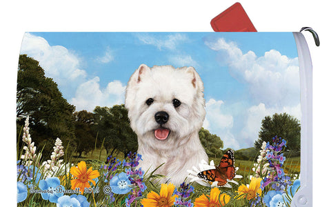 Westie - Best of Breed Summer Flowers Dog Breed Mail Box Cover
