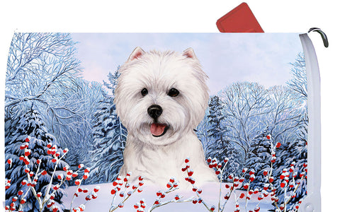 Westie - Best of Breed Winter Berries Dog Breed Mail Box Cover